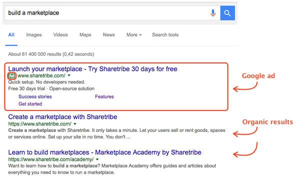Google Ads search ads