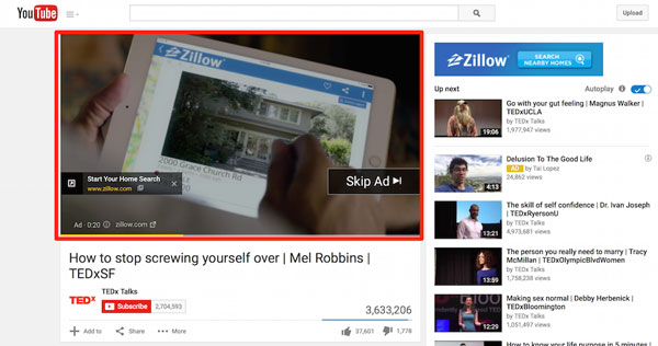Google youtube Ads or video ads