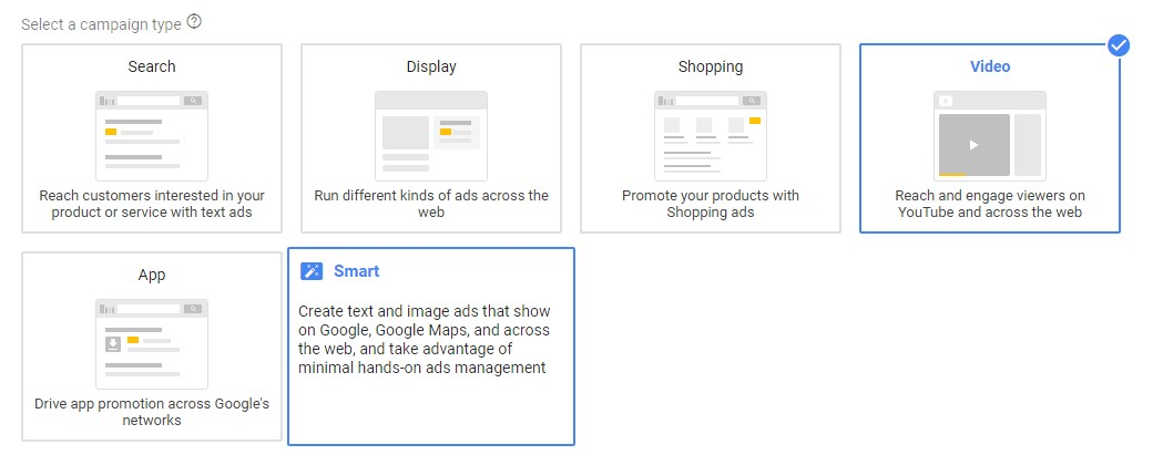 GoogleAds- Campaign type