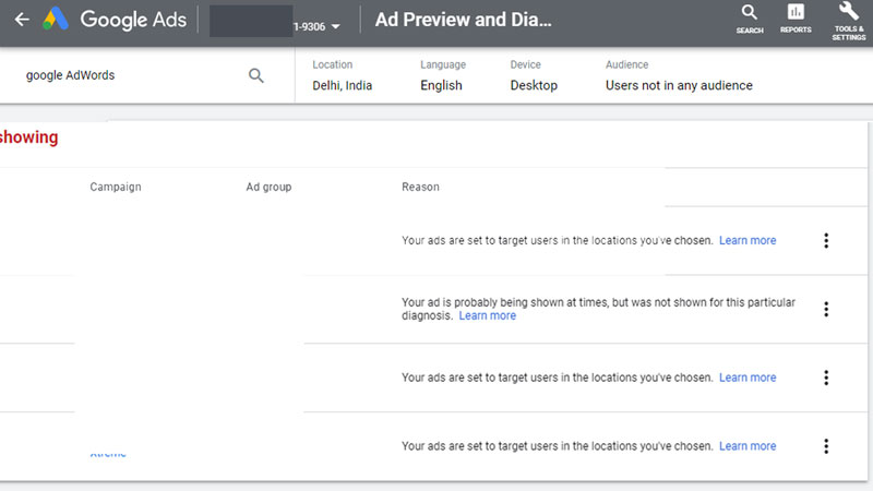 Google-Ads-Preview-tool